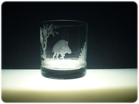 sklenice na whisky 6 ks Barline 280ml,skleničky s rytinou myslivosti,dárek pro myslivce