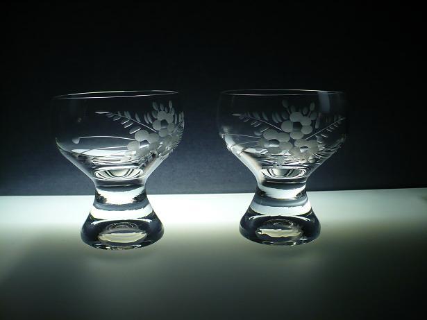 skleničky na sekt 6ks Gina 200 ml misky,sklenice s rytinou květů ,dárek k narozeninám