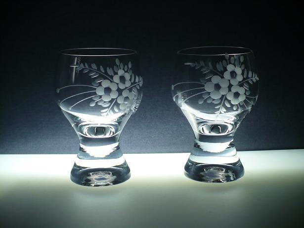sklenice na víno 6ks Gina 190ml,skleničky s rytinou květ,dárek k narozeninám