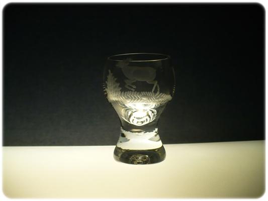 skleničky na likér 6 ks Gina 60ml,sklenice s rytinou myslivosti,dárek pro myslivce