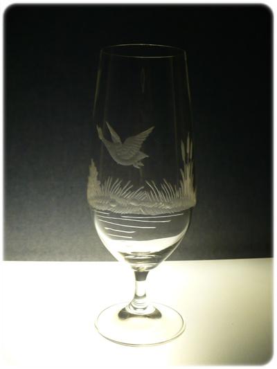 skleničky na pivo 6 ks Lara 380ml,sklenice s rytinou myslivosti,dárek pro myslivce