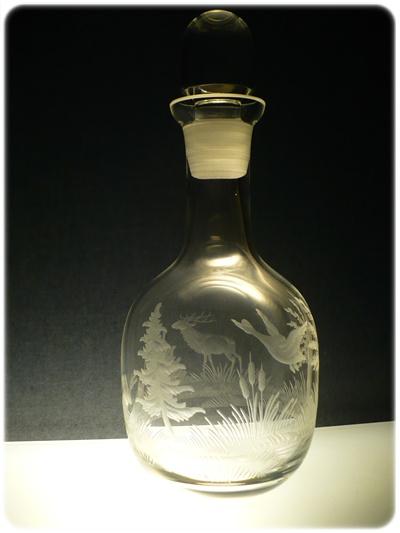 lahev 750ml s mysliveckou rytinou ,dárek pro myslivce