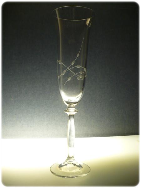 sklenice na sekt 1ks Angela 190ml,sklenička s rytinou korale , dárek k narozeninám