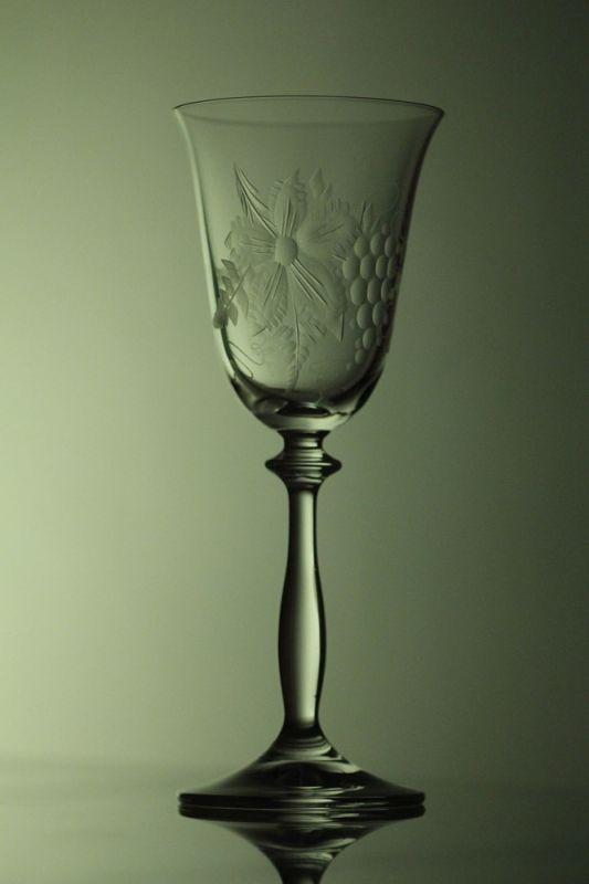 sklenice na víno 2ks Angela 185ml,skleničky s rytinou vinného hroznu, dárek k narozeninám