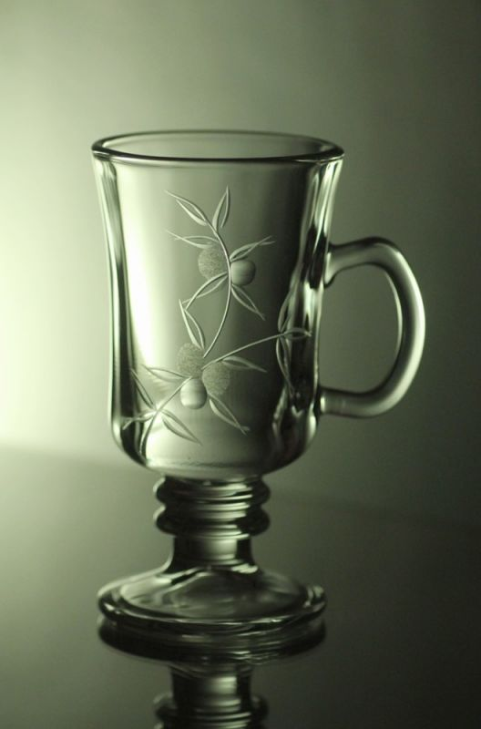 sklenice na kávu nebo latte 6ks venezia s rytinou bobule, dárek k narozeninám