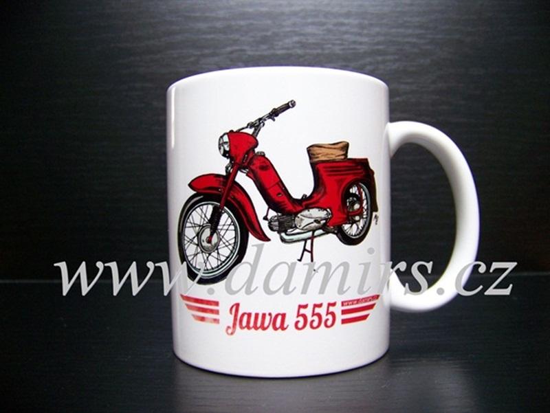 Hrnek s motivem Jawa 555