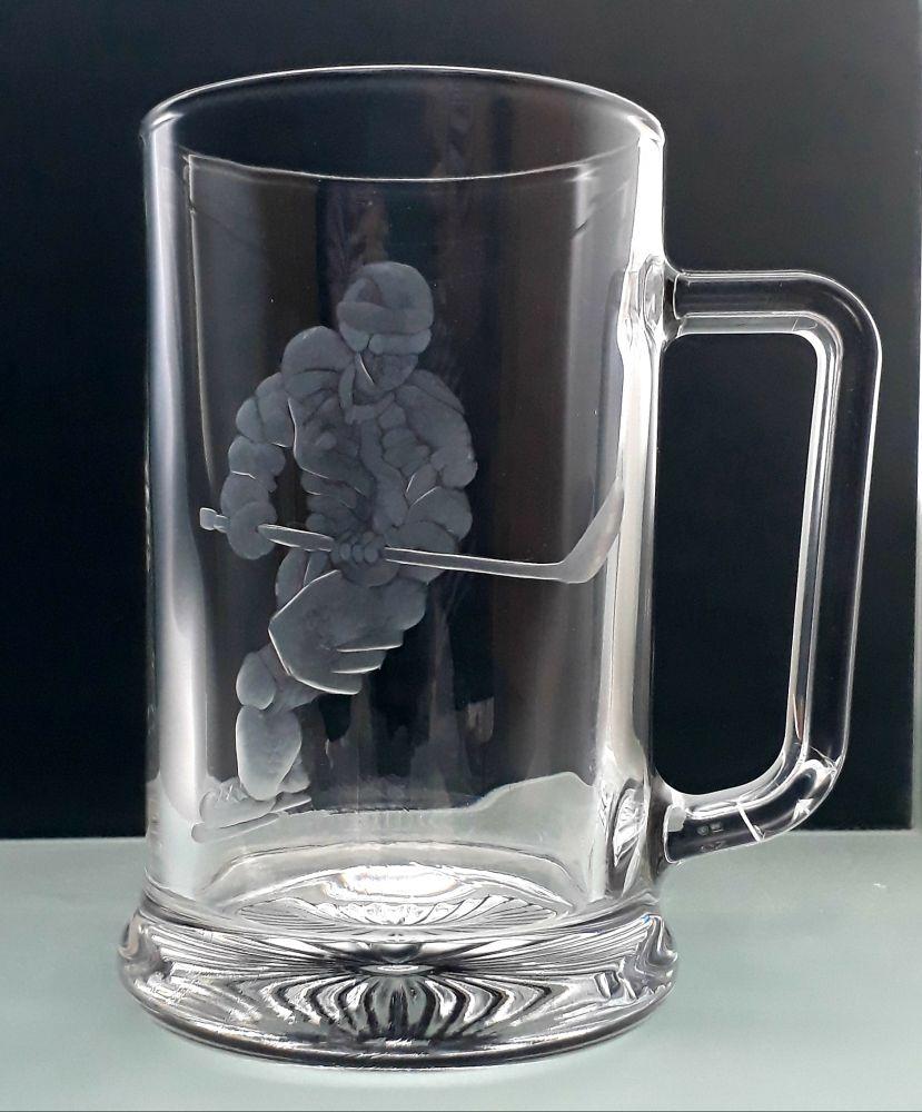 půllitr s hokejistou , dárek pro hokejistu