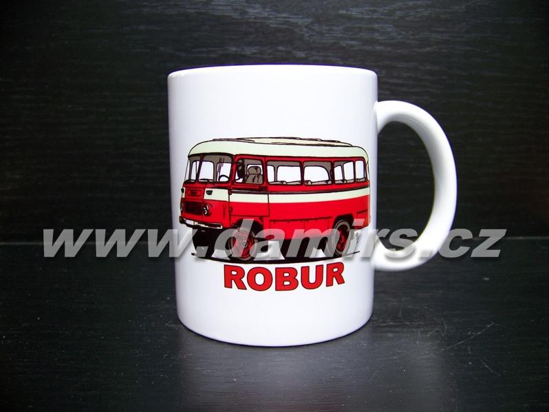 hrnek s motivem hasičský Robur bus