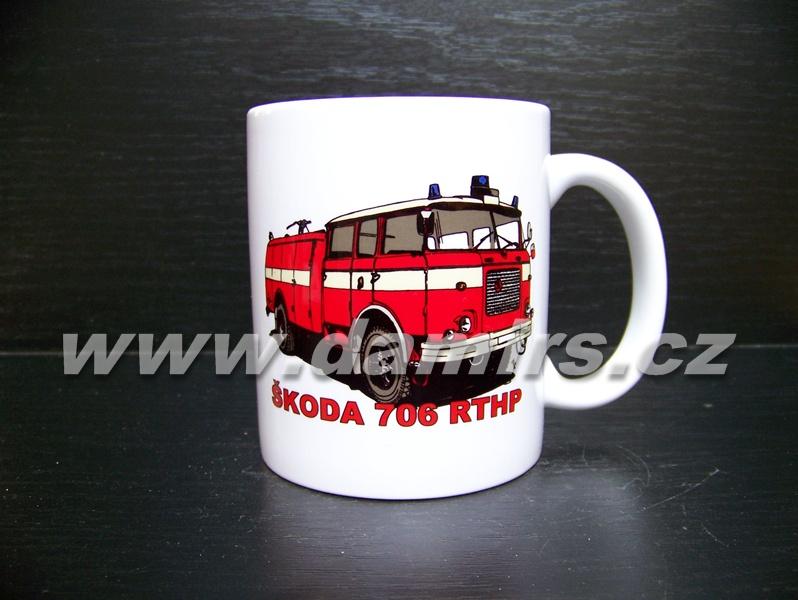 hrnek s motivem hasičská 706 RTHP