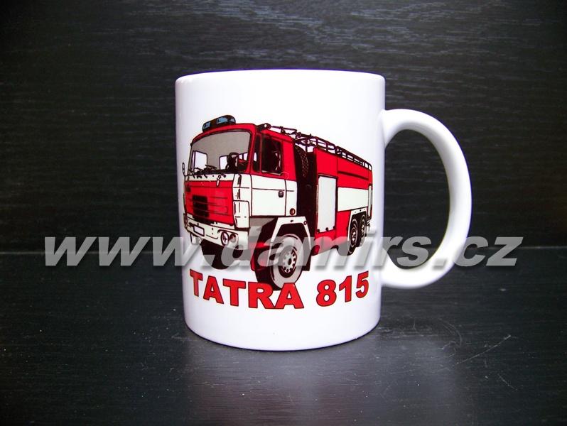hrnek s motivem hasičská Tatra 815