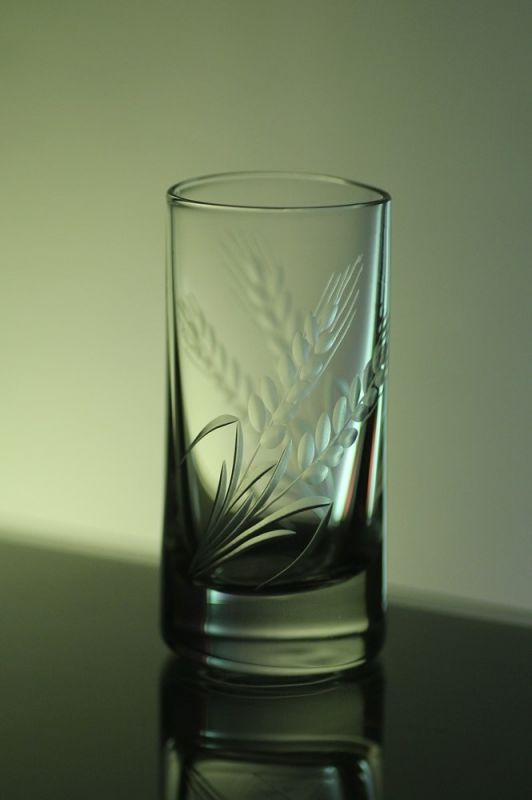 skleničky na slivovici 6ks Barline 35ml,sklenice s rytinou klasů,dárek pro tatínka i dědečka