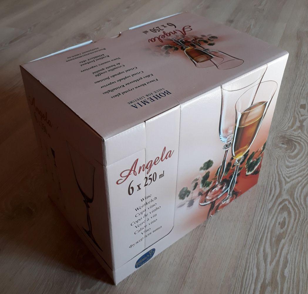 sklenice na víno 6ks Angela 250ml,skleničky s rytinou korale,dárek k narozeninám