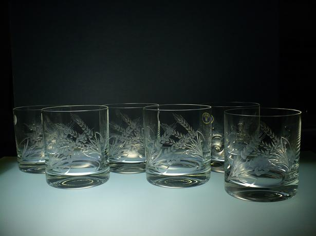 skleničky na whisky 6ks Barline 280ml,sklenice s rytinou klasů,dárek pro tatínka i dědečka