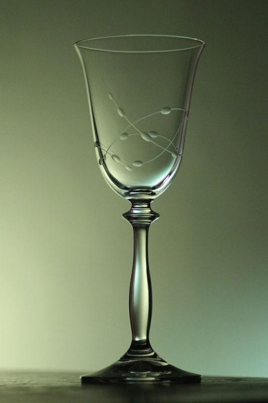 sklenička na víno 1ks Angela 185ml,sklenice s rytinou korale, dárek k narozeninám