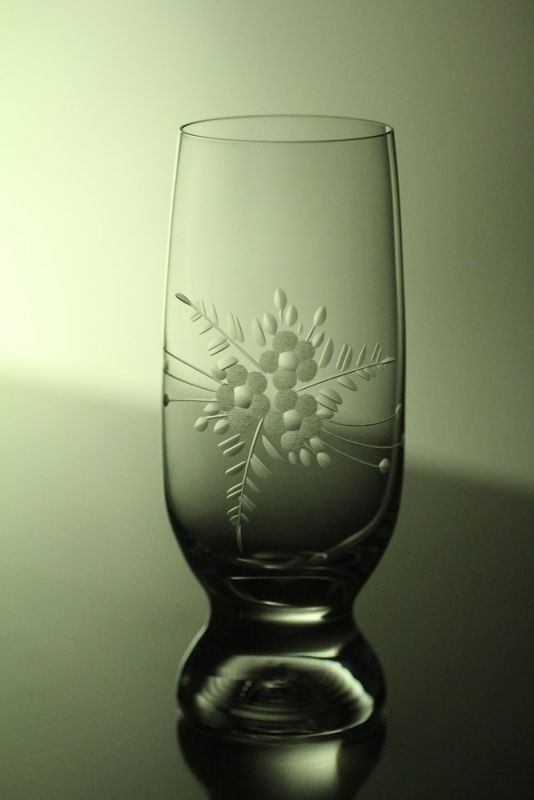 skleničky na pivo (vodu) 6ks Gina 260ml s rytinou květin,dárek k narozeninám