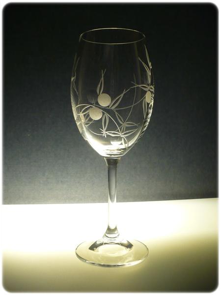 sklenice na víno 1ks Lara 250ml,sklenička s rytinou bobule