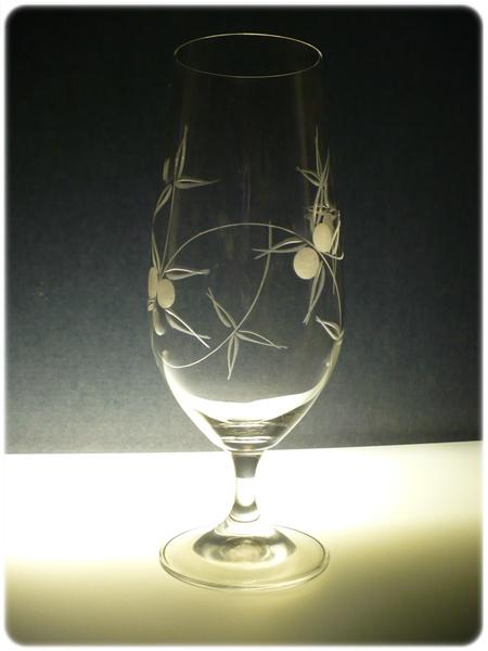 sklenice na pivo 1ks Lara 380ml,sklenička s rytinou bobule, dárek pro muže