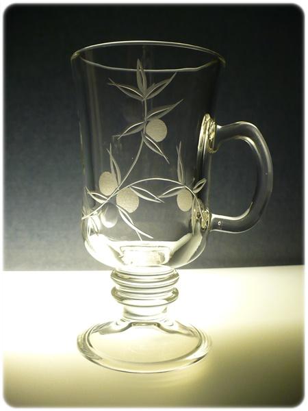 sklenice na kávu nebo latte 1ks, Venezia s rytinou bobule