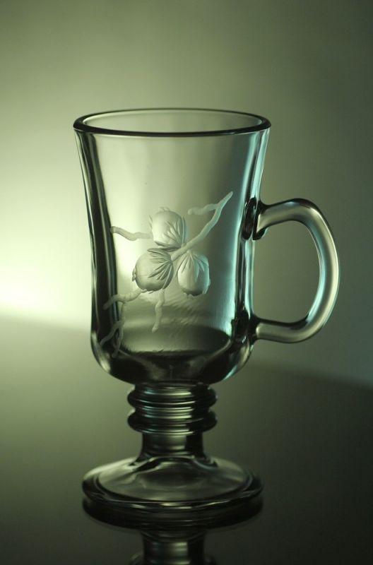 sklenice na kávu nebo latte 1ks, Venezia s rytinou tří oříšků, možnost jména na přání