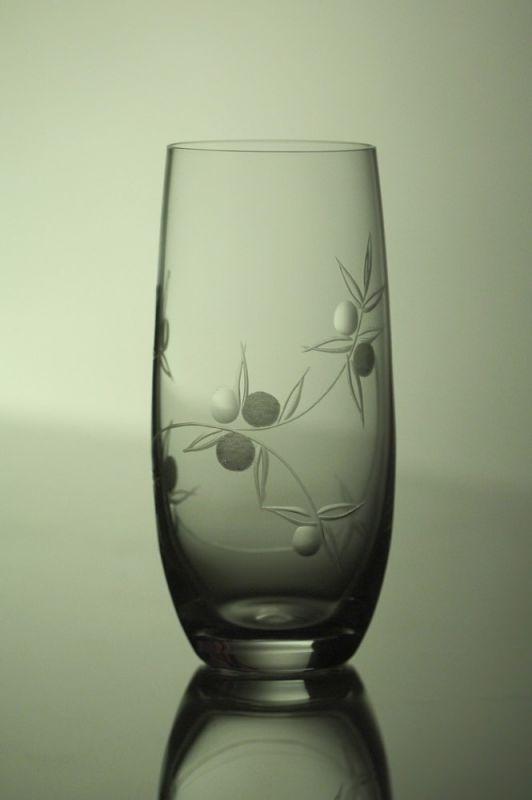 skleničky na pivo (vodu) 6ks Club 350 ml,sklenice s rytinou bobule, dárek k narozeninám