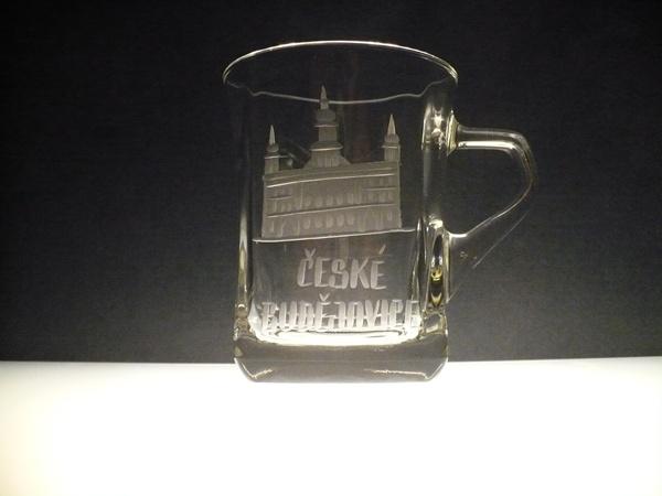 hrníček na kávu nebo čaj 220 ml s rytinou České Budějovice , možnost jiného města na přání