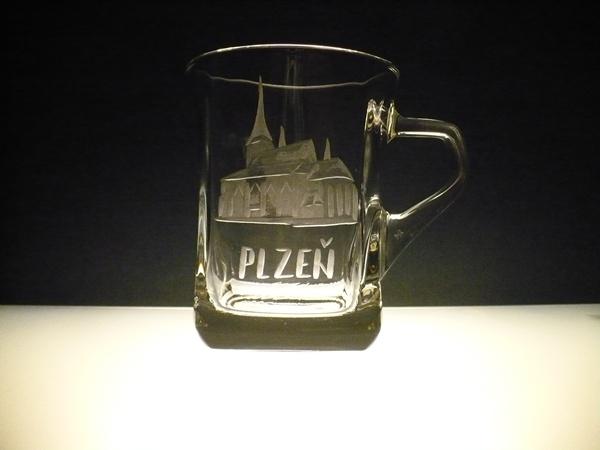 hrníček na kávu nebo čaj 220 ml s rytinou Plzeň, možnost jiného města na přání
