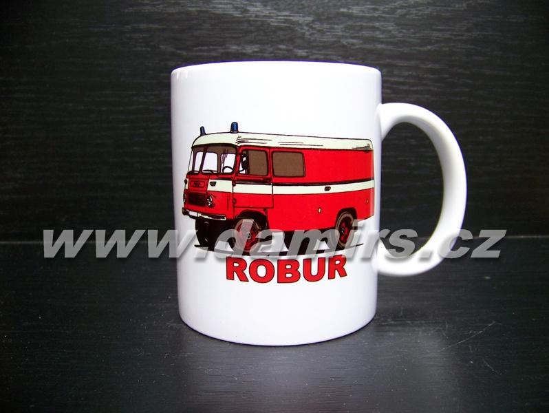 hrnek s motivem hasičský Robur skříň